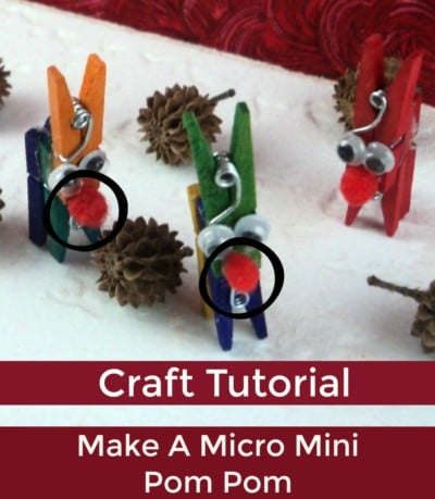 Tutorial: How To Make A Micro Mini Pom Pom