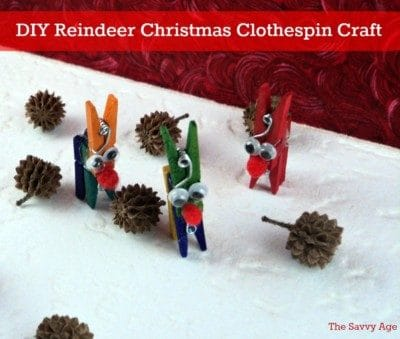 DIY Reindeer Christmas Craft! Start at the dollar store to make this easy kids Christmas craft.