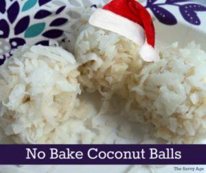 No Bake Christmas Coconut Balls