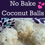 Three no bake coconut balls.