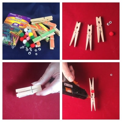 reindeer clothespin making collage