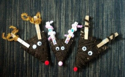 Fun and easy Reindeer Craft For Kids at the dollar store!