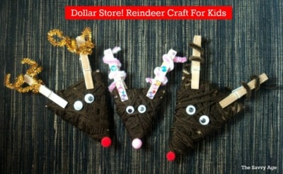 Dollar Store! Reindeer Ornament Craft For Kids
