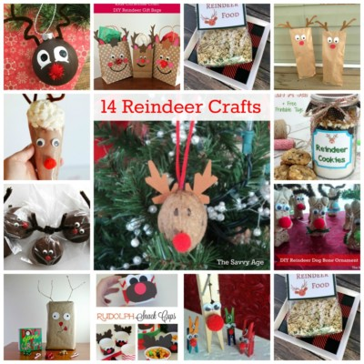 Fun DIY! 14 Christmas Reindeer Crafts For Kids & Adults