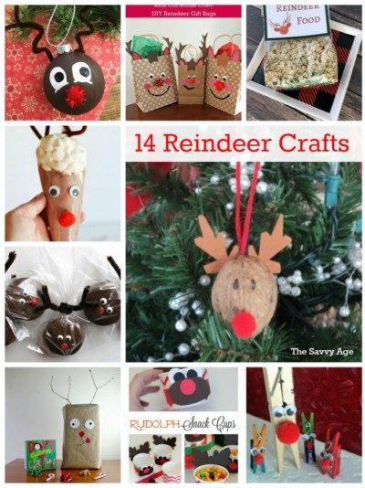 Reindeer Christmas crafts.