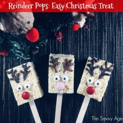 Reindeer Pops! Easy Christmas Rice Krispie Treat