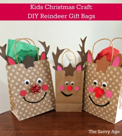 Reindeer Gift Bags (Dollar Store Craft!)