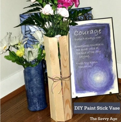 Party On! DIY Paint Stick Vase