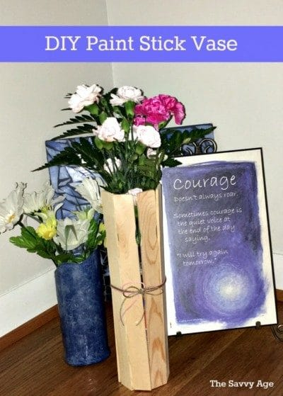 DIY Paint Stick Vase. Easy craft for kids and adults. Fun party gift and decoration for any occasion.