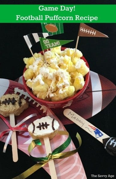 Football food collage.