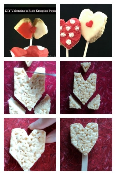 Quick Diy Valentine S Day Rice Krispies Lollipops The Savvy Age