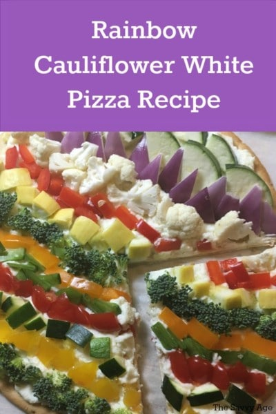 rainbow white cauliflower pizza recipe