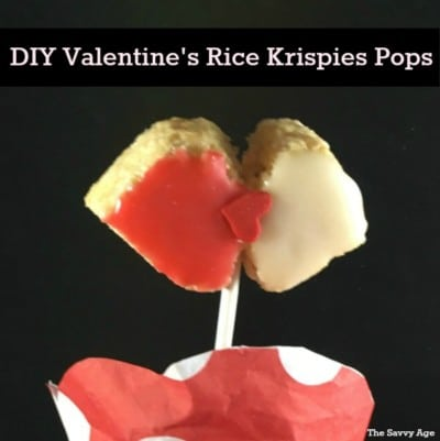 Valentine's Rice Krispies Lollipops