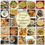 Collage of cauliflower dishes.