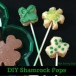 Three Rice Krispies Shamrock Pops for St. Patrick's Day.
