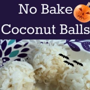 Halloween Treat! Healthy No Bake Coconut Balls
