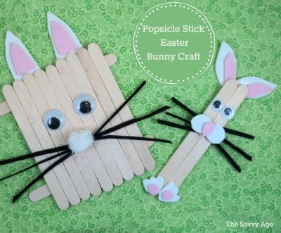 O'Bunny! Cute Popsicle Stick Easter Bunny