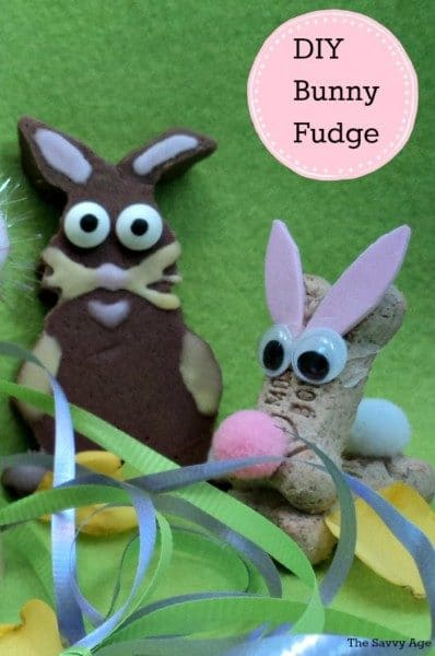 Craft your fudge into an Easter bunny for your homemade Easter basket. Bunny Fudge is an easy DIY with cookie cutters and the original fantasy fudge recipe.