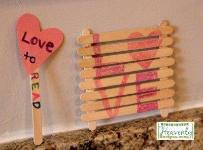 Popsicle Stick Vase Craft.