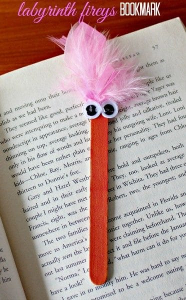 Popsicle stick bookmark.