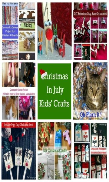 Christmas In July Kids' Crafts. Get a head start on the Christmas DIY with easy Christmas Crafts.