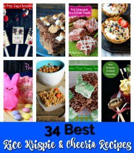 rice krispie recipes collage