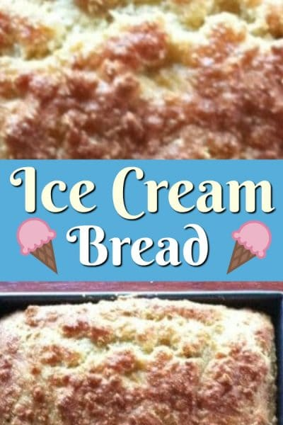 Ice cream bread loaf.