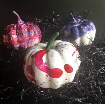 marbled pumpkins pastels