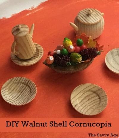 Thanksgiving Walnut Craft – Mini Cornucopia