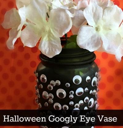 Dollar Store Craft! Halloween Googly Eye Vase