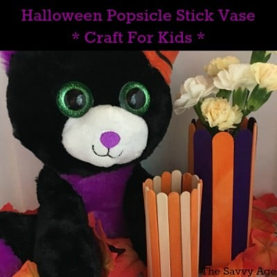 Halloween Popsicle Stick Vase (Dollar Store!)