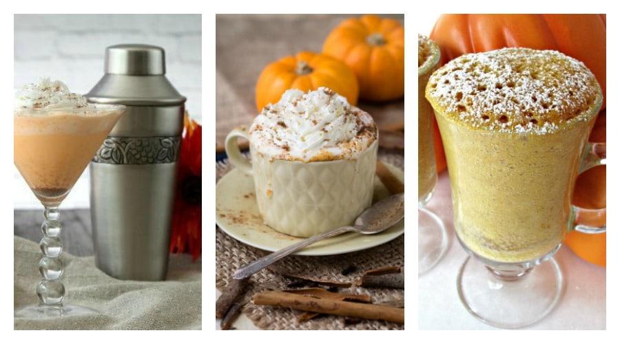 3 pumpkin drinks