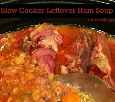 Easy! Slow Cooker Leftover Ham Soup Recipe