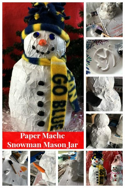Two paper mache snowmen.