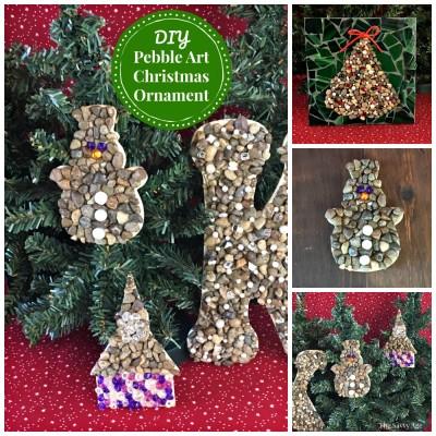 Easy DIY Pebble Art Christmas Ornaments