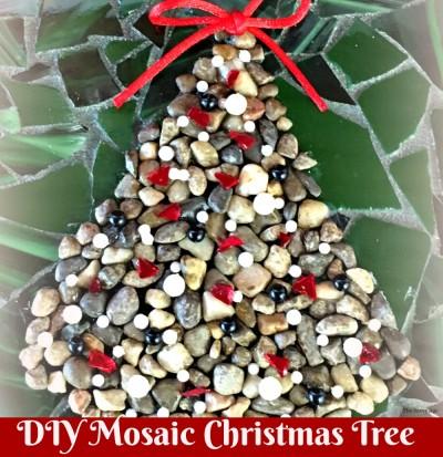 mosaic pebble christmas tree