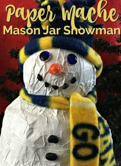 Paper mache snowman.