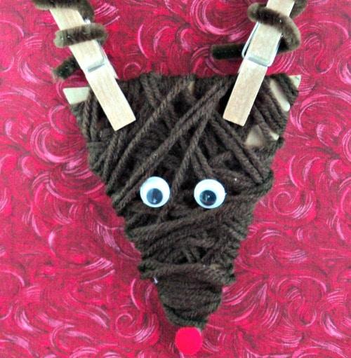 Dollar Store! Reindeer Ornament Craft For Kids