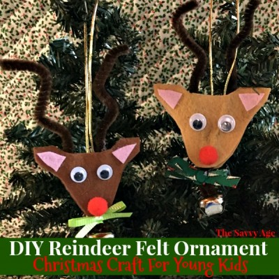 DIY Felt Reindeer Ornament: Christmas Craft For Young Kids