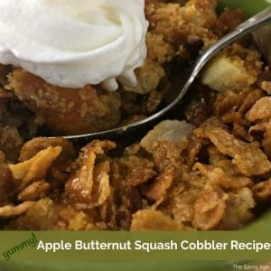 apple butternut squash cobbler in a bowl