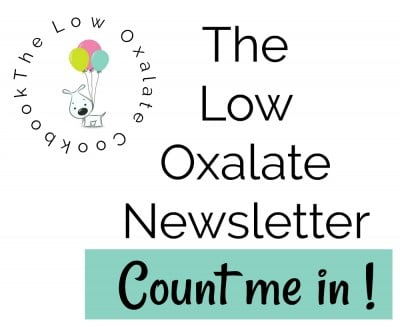 low oxalate newsletter