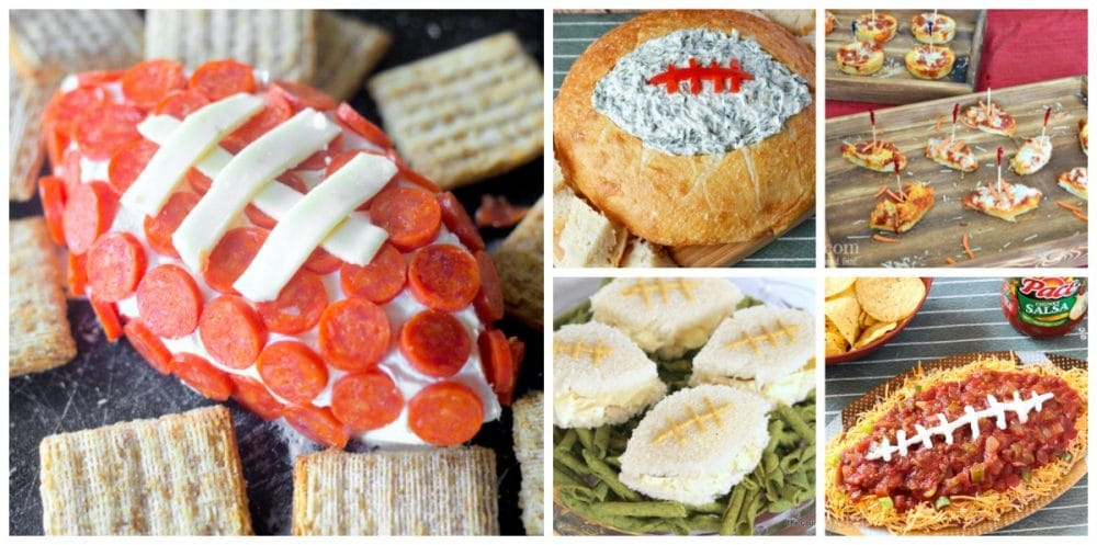 football shaped appetizers
