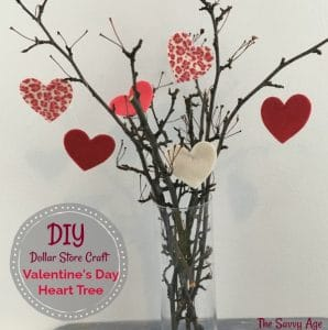 Valentine's Day tree with branches.