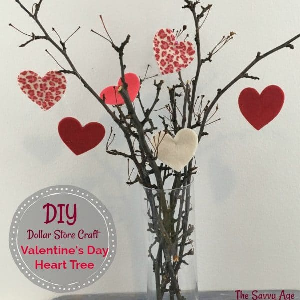 The $1 Valentine's Day Craft: Valentine's Day Tree