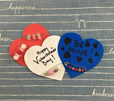 valentine's day safety pin jewelry