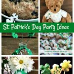 collage of St. Patrick's Day food and crafts.
