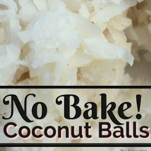 Close up no bake coconut ball