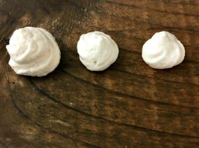 three meringue bunnie butts