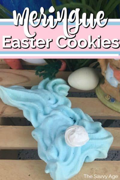 Blue meringue Bunny Cookie.