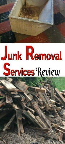 wood planks, shrubs, concrete junk